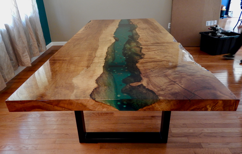 Live Edge Resin River Table Holly Waight Designs
